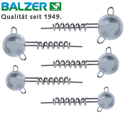 Balzer Shirasu Screw Jig Set  Testine a vite per pesci in gomma, teste a spirale per esche in gomma, teste jig per esche morbide, teste al piombo, 10g / 15g / 20g / 25g / 30g