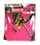 Realtree HOT PINK Camo Camouflage Sheet Set (Comforter sold separately) KING