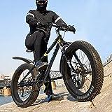 ZJS 【US Spot】 26-inch Fat Tire Mountain Bike 21-Speed Bicycle High-Tensile Steel Frame,Adult Mountain Bike