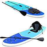 Zupapa Upgrade Inflatable Stand Up Paddle Board 6' Thick 10 FT Kayak Convertible All Accessories Included