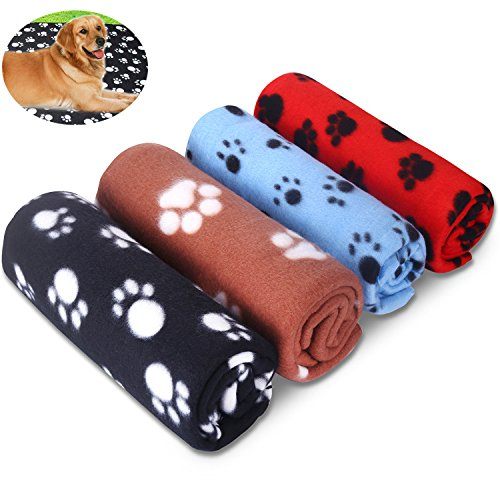 6. Comsmart Puppy Blanket Warm Dog Cat Fleece Blankets Pet Sleep Mat Pad Bed Cover