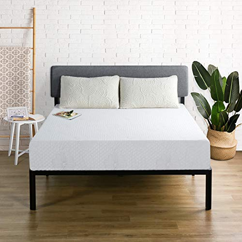 Olee Sleep 9 Inch I-Gel Multi Layered Memory Foam Mattress, Full, White
