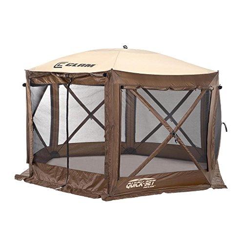 Quick Set 9882 Pavilion Pop Up Shelter, 150 x 150, Brown/Tan