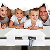 EPHEDORA Extra Wide Bed Bridge Connector | Twin to King Converter Kit with Strap | Adjustable Mattress Connector for Bed | 25D Memory Foam | 10' Design | Non-Slip | Storage Bag Included