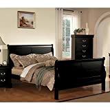 Queen Bed Frame, Harper&Bright Designs Solid Wooden Queen Size Platform Bed with Headboard & Footboard, Box Spring Required, Easy Assembly, Queen Size, Black