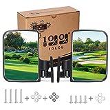 10L0L Golf Cart Mirrors, Universal Folding Side View Mirror 180 Degree Rear View Mirror for Club Car, EZGO, Yamaha