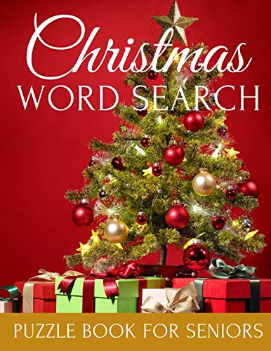 Christmas Word Search Puzzle Book For Seniors: Relaxing Large Print for Adult Perfect Gift for People with Dementia Alzheimer and Elderly Woman and Men