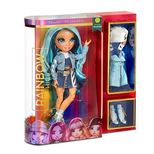 Image 8 - Rainbow High Poupée Mannequin - Skyler Bradshaw – Poupée thème bleu avec tenues luxueuses, accessoires et socle - Série 1 - Parfait pour les filles de 6 ans et plus