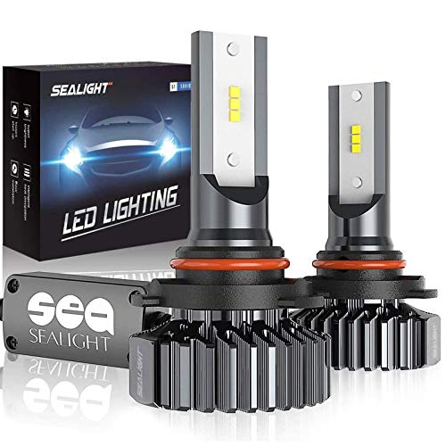 SEALIGHT 9005/HB3 LED High Beam Headlight Bulbs 12000lm Conversion Kit Plug and Play, 9145/H10 Fog Light Bulbs 6000K Bright White