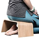 Valiai Strong wooden meditation bench, also used for tea ceremonies, seiza, yoga, prayer and healthier sitting