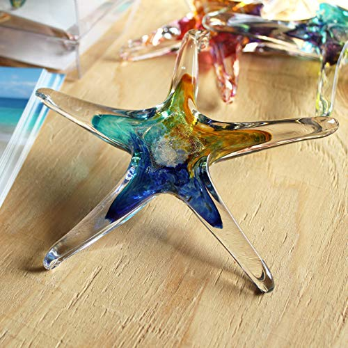 Luke Adams Glass | 5' Small Glass Star | Handmade Suncatcher |...