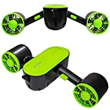 cho Under Water Scooter Dual Propellers Waterproof Dual Speed with Camera Mount for Water Sports Swimming Pool Diving Snorkeling Sea Adventures (Green)
