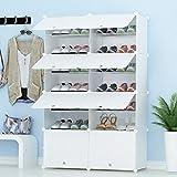PREMAG Organisateur de Rangement pour Chaussures Portable, Blanc, étagère...