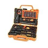 AIRAJ 45 in 1 Precision Screwdriver Set, Professional Screwdriver Set with Case, Multi-function Non-Slip Screwdriver Tool Set, for Repair iPhone, Cell Phone, iPad, PC, MacBook etc (Orange)