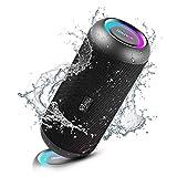 Enceinte Bluetooth Portable, RIENOK Haut Parleur sans Fil 30W IP67 avec LED...