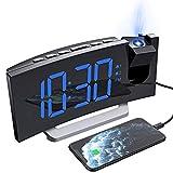 Mpow Réveil Projection, Radio Reveil Projecteur avec écran Incurvé à...