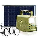 ECO-WORTHY 84Wh Générateur d'Eclairage, Kit Complet Portable avec Panneau Solaire 18W + Lampe LED...