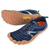 ALEADER Minimalist Running Shoes Womens Barefoot Cross Training Sneakers Navy 8-8.5 M US Women