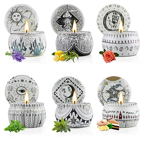 Scented Candles Gift Set for Women Aromatherapy Candle 6...