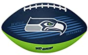 #1 YOUTH SIZE FOOTBALL FOR SEATTLE SEAHAWKS FANS 5X MORE GRIP, this football features Rawlings patented HD GRIP, which means it has 5 times more pebbles for gripping compared to Standard rubber patterns FEATURES Bold SEAHAWKS LOGOS ON FRONT AND BACK ...