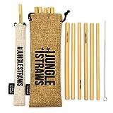 Jungle Straws Pailles en Bambou | Pailles Réutilisables,...