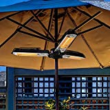 Infrared Patio Heater - Electric Patio Heater - Outdoor Heater - 1500W - Use with Hanging Chain - Mount to Ceiling/Umbrella for Protection Gardens and Commercial Use
