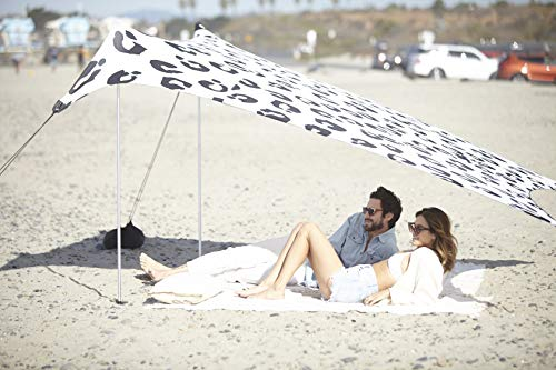 Neso Tents Beach Tent with Sand Anchor, Portable Canopy Sunshade - 7' x 7' - Patented Reinforced Corners (Leopard)