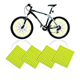 Thimmamma Reflektierende Fahrradspeichen, 48 Stück Fahrrad Speichen Reflektor 360° Sichtbarkeit Gelb Reflektoren für Kinder Erwachsene Fahrrad