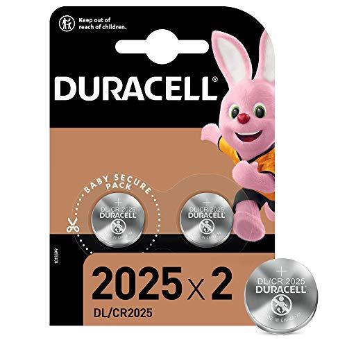 Duracell - Pilas de botón de litio 2025 de 3 V, paquete de