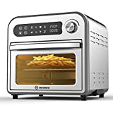 MOOSOO 8-in-1 Air Fryer Oven,10.6 QT Electric Air Fryer Toaster Oven with LED Digital Touchscreen, Dehydrator, Rotisserie,Oil-Less Oven with Temperature&Time Dial,Stainless Steel Body,4 Accessories & 100 Recipes,1500W