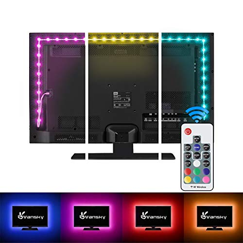 LED Strip Lights,Vansky Bias Lighting Strip for TV USB Powered for 40-60 Inch Flat Screen TV,...