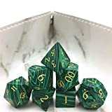 Amatolo Stone Dice Set,Handmade Dices for RPGs ,Dungeons & Dragons Dice Made by Natural Gemstones...