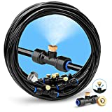homenote Misting Cooling System, 26FT (8M) Misting Line + 7 Brass Mist Nozzles + a Brass Adapter(3/4') Outdoor Mister for Patio Garden Greenhouse Trampoline for waterpark