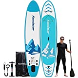 12'x32'x6', 396lbs Capacity, All-Around Inflatable Stand Up Paddle Board - Stable, Versatile, Durable and Lightweight SUP for All Skill Levels, Paddleboard Accessories & Carry Bag Included (Blue)