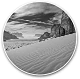 Lplpol (3 PCS/Pack) Negro y Blanco - Dunes Wadi-Rum Desert Jordan Laptop Equipaje Tablet #39,660-4'