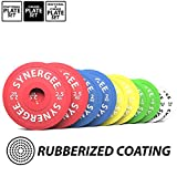 Synergee Rubberized Change Plates 0.5, 1.0, 1.5, 2.0 & 2.5 kg Set – Incremental Weights for Powerlifting, Olympic Lifting, and Strength Workouts