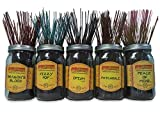 Wildberry Incense Sticks Best Seller Set #1: 4 Sticks Each of 5 Scents, Total 20 Sticks!