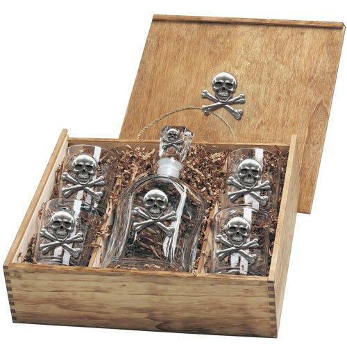 Skull and Bones Capitol Decanter Box Set