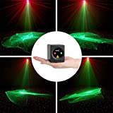 SUNY Mini Portable Cordless Laser Lights Rechargeable RG Aurora Patterns Gobo Projector Sound Activated Music DJ Party Lights for Outdoor Travel Camping Disco Live Show Home Dance Holiday Birthday