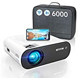 Proyector WiFi Bluetooth, 6000LM WiMiUS Proyector Portátil WiFi Bluetooth Full HD Soporte 1080P...