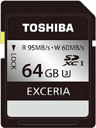 TOSHIBA SDXCカード 64GB UHS-I U3対応 (最大読出速度95MB/s 最大書込速度60MB/s) 日本製 (国内正規品) SD-JU064G