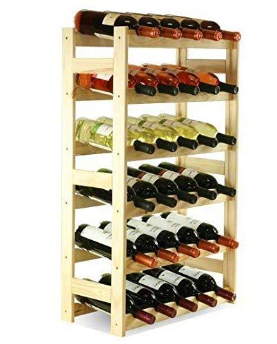 MODO24 - Cantinetta per Vini, in Legno Non trattato, Legno, Non trattato, 53 x 25 x 86 cm