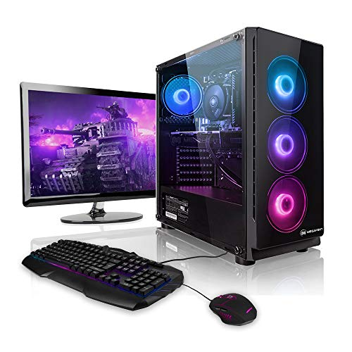 "Megaport Super Méga Pack - Unité Centrale PC Gamer Complet Intel Core i7-9700 • Ecran LED 24"" • Clavier et Souris Gamer • GeForce GTX1060 6Go • 16Go • Win 10 Ordinateur de Bureau PC Gaming"