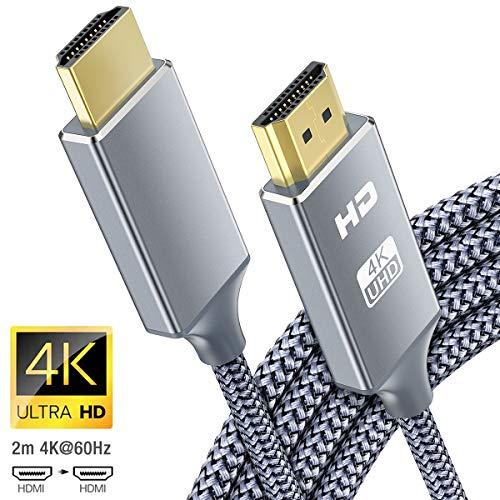 Cavo HDMI 4k Ultra HD [2m],Cavi HDMI 2.0 alta velocit Supporta Ethernet 3D,4K e ritorno audio-2160p...