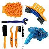 Anndason 8 Pieces Precision Bicycle Cleaning Brush Tool Including Bike Chain Scrubber, Suitable for Mountain, Road, City, Hybrid,BMX Bike and Folding Bike