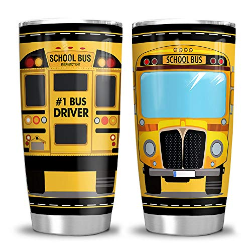 64HYDRO 20oz School Bus Head Bus Driver Tumbler Cup with...