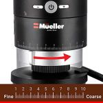Mueller Ultra-Grind Conical Burr Grinder Professional Series, Innovative Detachable PowderBlock Grinding Chamber for Easy Cleaning and 40mm Hardened Gears for Long Life 28