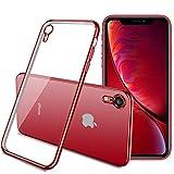 ORANGA iPhone XR ケース クリア 耐衝撃 TPU 透明メッキ加工 Qi充電対応 薄型 カメラレンズ保……