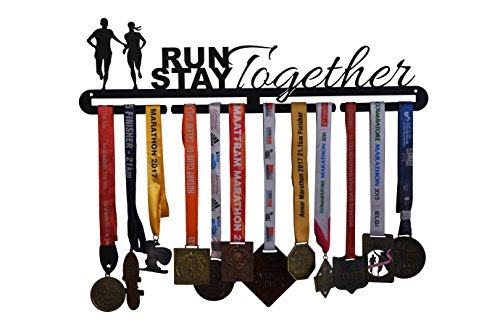 RUNWYND Run Together Stay Together Medal Hanger - Black