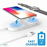 [Fast Charge]Achieving over 80% efficiency and speed up to 7.5W,Belker allow you to charger your smart device at an ultra speed,in line with the go-faster gospel of modern life. ONLY Support Apple Watch Series 2 or 3,NOT for Series 1 and 4.simply nee...